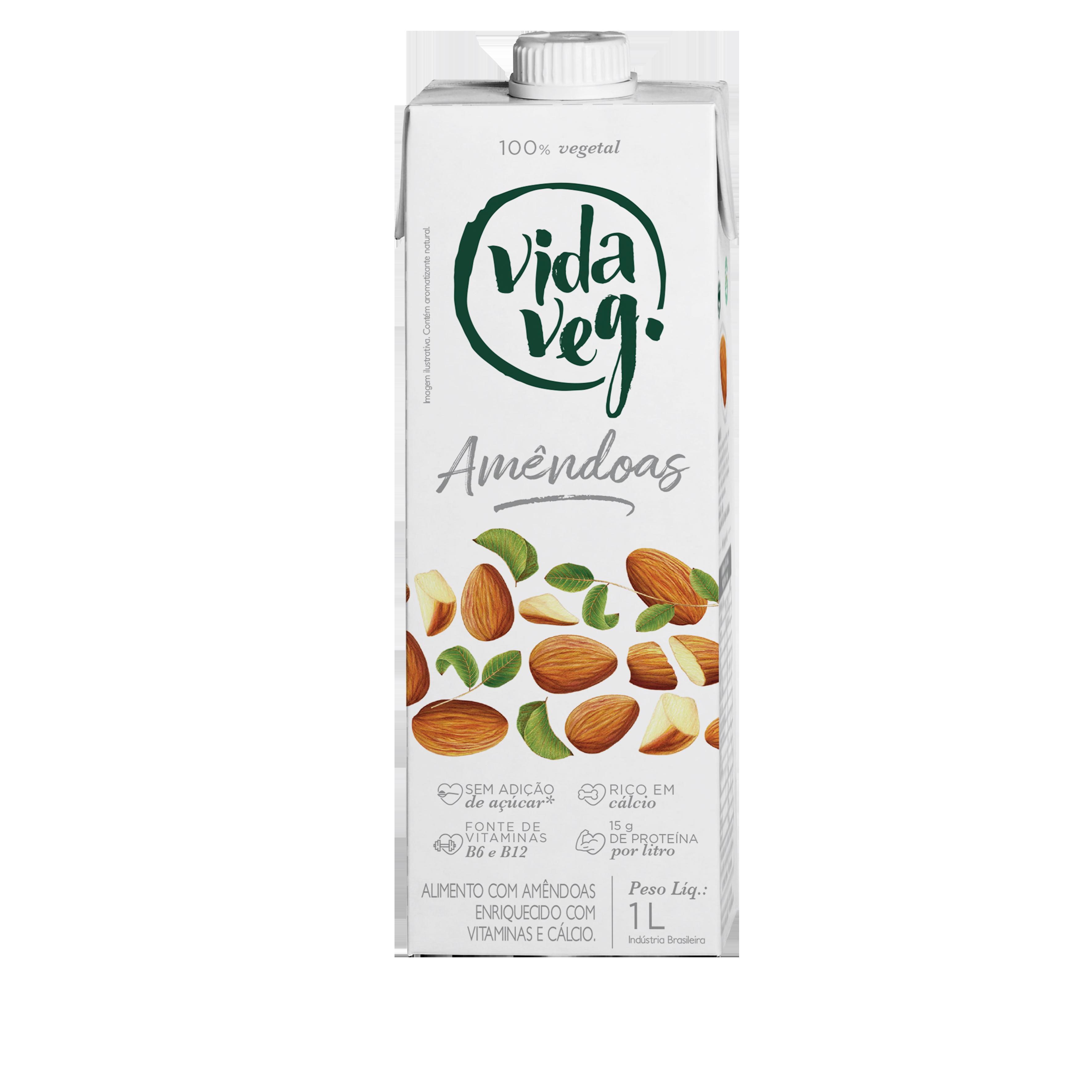 leite vegetal amendoas