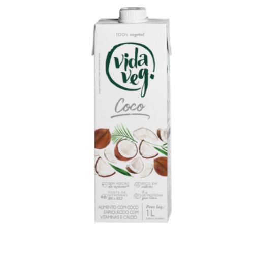 leite vegetal uht coco