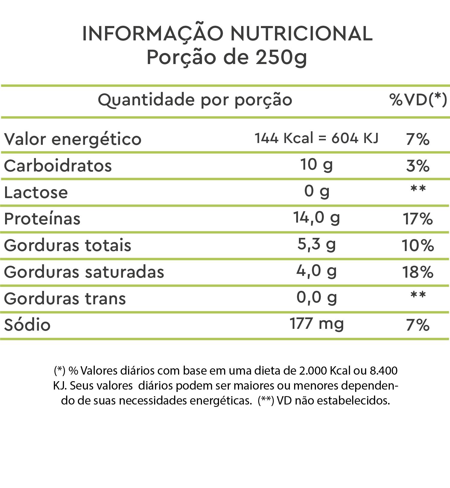 tabela nutricional vegprotein cookies